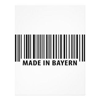 hecho en icono del código de barras de Baviera Tarjetón