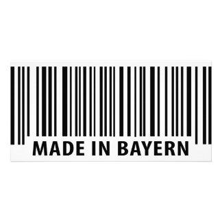 hecho en icono del código de barras de Baviera Tarjetas Fotograficas