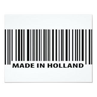 """hecho en icono del código de barras de Holanda Invitación 4.25"""" X 5.5"""""""