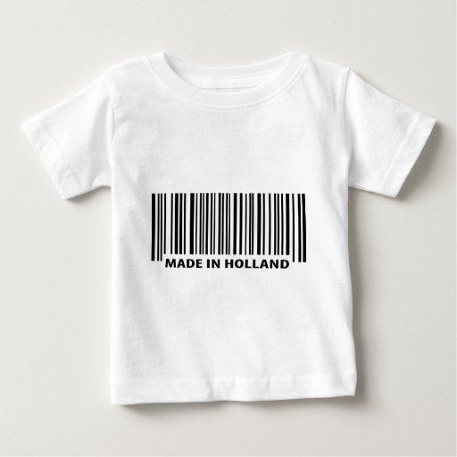 hecho en icono del código de barras de Holanda Tshirt
