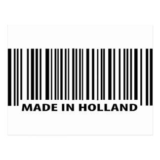 hecho en icono del código de barras de Holanda Postal