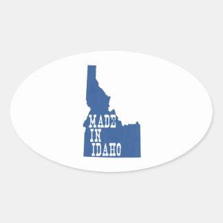 Hecho en Idaho Calcomanías Ovales