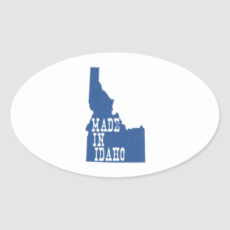 Hecho en Idaho Pegatina Ovalada
