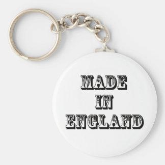 hecho en Inglaterra Llavero Redondo Tipo Pin