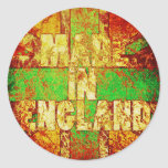 Hecho en Inglaterra Pegatina Redonda