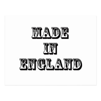 hecho en Inglaterra Postales