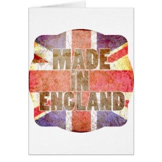 Hecho en Inglaterra Tarjeta De Felicitación
