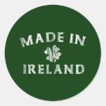 Hecho en Irlanda Pegatina Redonda