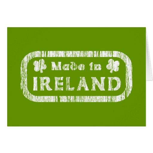 Hecho en Irlanda Tarjeta De Felicitación