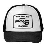 Hecho en Irvine personalizado custom personalized Trucker Hats