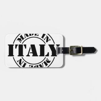 hecho en Italia Etiquetas Para Maletas