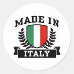 Hecho en Italia Etiquetas Redondas