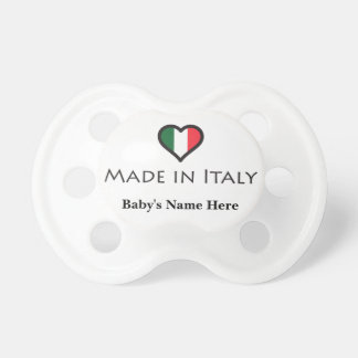 Hecho en Italia personalizó diseño Chupetes