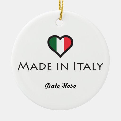 Hecho en Italia personalizó diseño Adorno Redondo De Cerámica