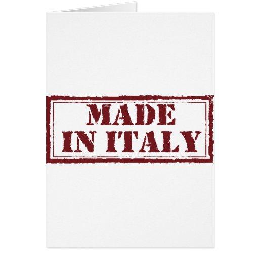 Hecho en Italia Tarjeta De Felicitación
