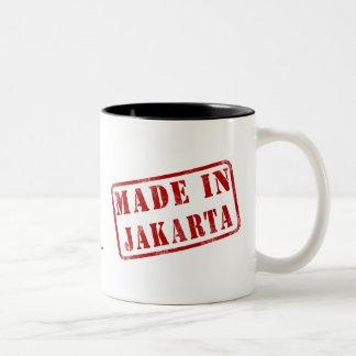 Hecho en Jakarta Taza De Dos Tonos