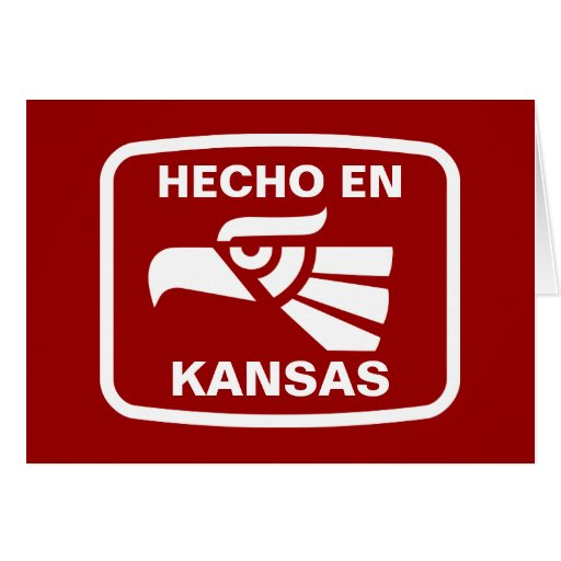 Hecho en Kansas personalizado custom personalized Card