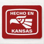 Hecho en Kansas personalizado custom personalized Mouse Mats