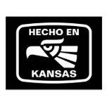 Hecho en Kansas personalizado custom personalized Post Card