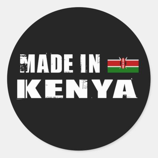 Hecho en Kenia Pegatina Redonda
