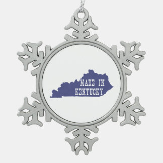 Hecho en Kentucky Adorno De Peltre En Forma De Copo De Nieve
