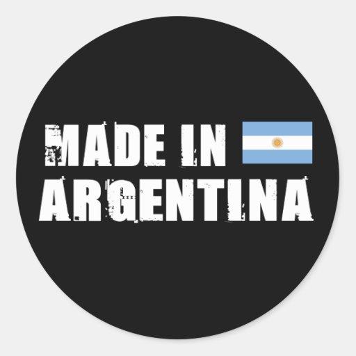 Hecho en la Argentina Pegatinas Redondas