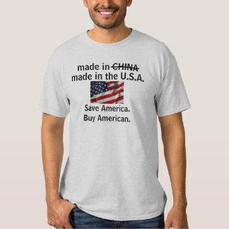 Hecho en la ayuda América de los E.E.U.U. Compre Poleras