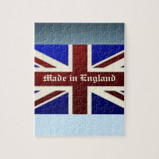 Hecho en la bandera metálica de Inglaterra Union J Rompecabezas