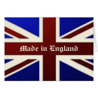 Hecho en la bandera metálica de Inglaterra Union J Tarjeta De Felicitación