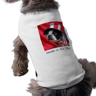 Hecho en la camiseta de Boston Terrier del perro d Playera Sin Mangas Para Perro