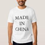 Hecho en la camiseta de China Poleras