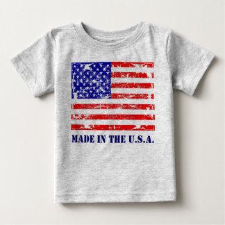 Hecho en la camiseta de la bandera americana de camisas