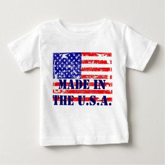 Hecho en la camiseta de la bandera de los E.E.U.U. Playera