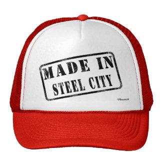 Hecho en la ciudad de acero gorra