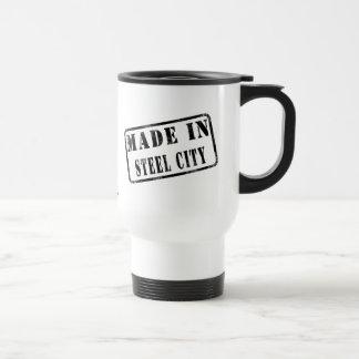 Hecho en la ciudad de acero taza