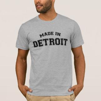 Hecho en la ciudad de la camiseta de Detroit