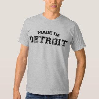 Hecho en la ciudad de la camiseta de Detroit Polera