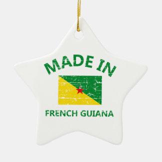 Hecho en la Guayana Francesa Adorno De Cerámica En Forma De Estrella