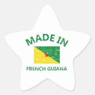 Hecho en la Guayana Francesa Pegatina En Forma De Estrella