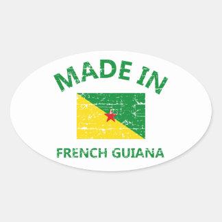 Hecho en la Guayana Francesa Pegatina Ovalada