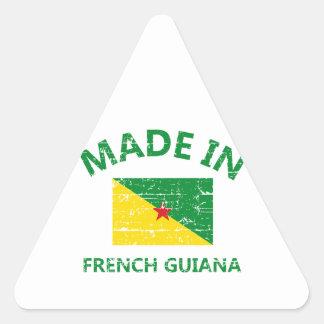 Hecho en la Guayana Francesa Pegatina Triangular
