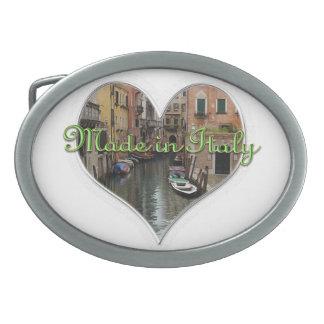 Hecho en la hebilla del cinturón de Italia Hebilla Cinturon Oval