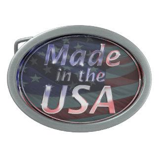 Hecho en la hebilla del cinturón de los E.E.U.U. Hebilla Cinturon Oval