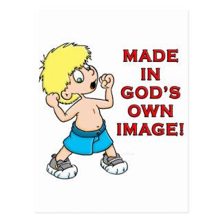 Hecho en la imagen de dios postal
