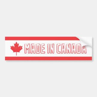 Hecho en la pegatina para el parachoques de Canadá Pegatina Para Auto