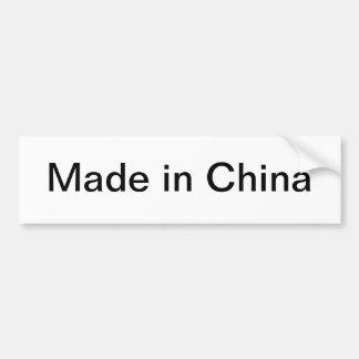 Hecho en la pegatina para el parachoques de China Pegatina Para Auto
