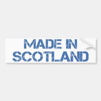 Hecho en la pegatina para el parachoques de Escoci Etiqueta De Parachoque