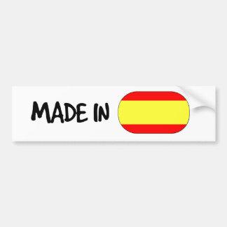 Hecho en la pegatina para el parachoques de España Pegatina Para Auto