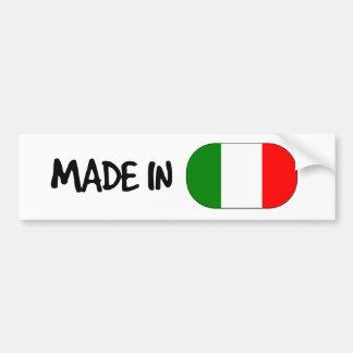 Hecho en la pegatina para el parachoques de Italia Pegatina Para Auto