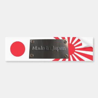 Hecho en la pegatina para el parachoques de Japón  Etiqueta De Parachoque